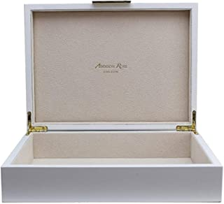 Addison Ross 9x12 White Lacquer Box with Gold