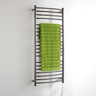 FANGYAO Montado en la Pared calentada de Acero Inoxidable toallero eléctrico/baño Radiador/Calentador de Toallas 9001-Negro