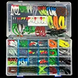 BrilliantDay 146Pcs Artificiale Pesca Richiamo Set Morbido Esca Attrezzatura di Pesca Esca...