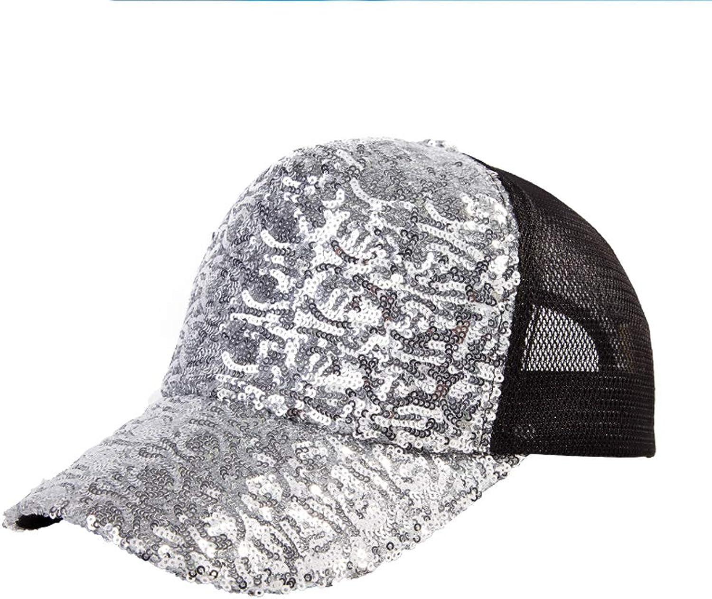 MXD Hat Female Summer Casual Student Baseball Cap Outdoor Hat Hip Hop Hat Sun Hat (color   Silver)