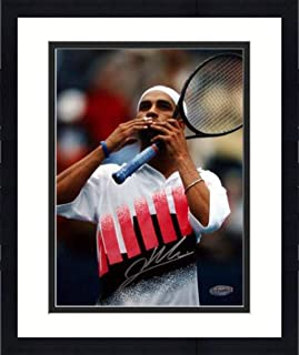 Framed James Blake Andre Agassi Tribute Signed 8x10 Photo - Steiner Sports Certified - Autographed Tennis Photos