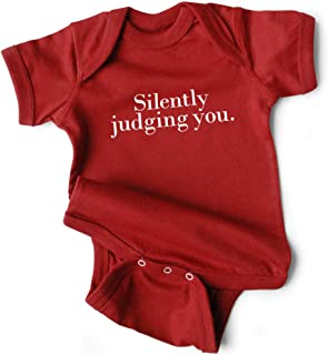 WRYBABY Funny Baby Bodysuit | Silently Judging You Snapsuit