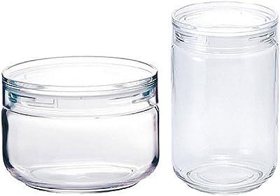 【セット買い】セラーメイト 保存容器 チャーミークリアー S1 600ml + L3 420ml