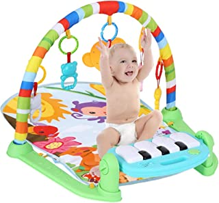 Baby Activity Musical Gym, Erwazi Kick and Play Newborn Mat, Baby Gyms Playmats with Music, Lights, and Sounds Toys, Unise...