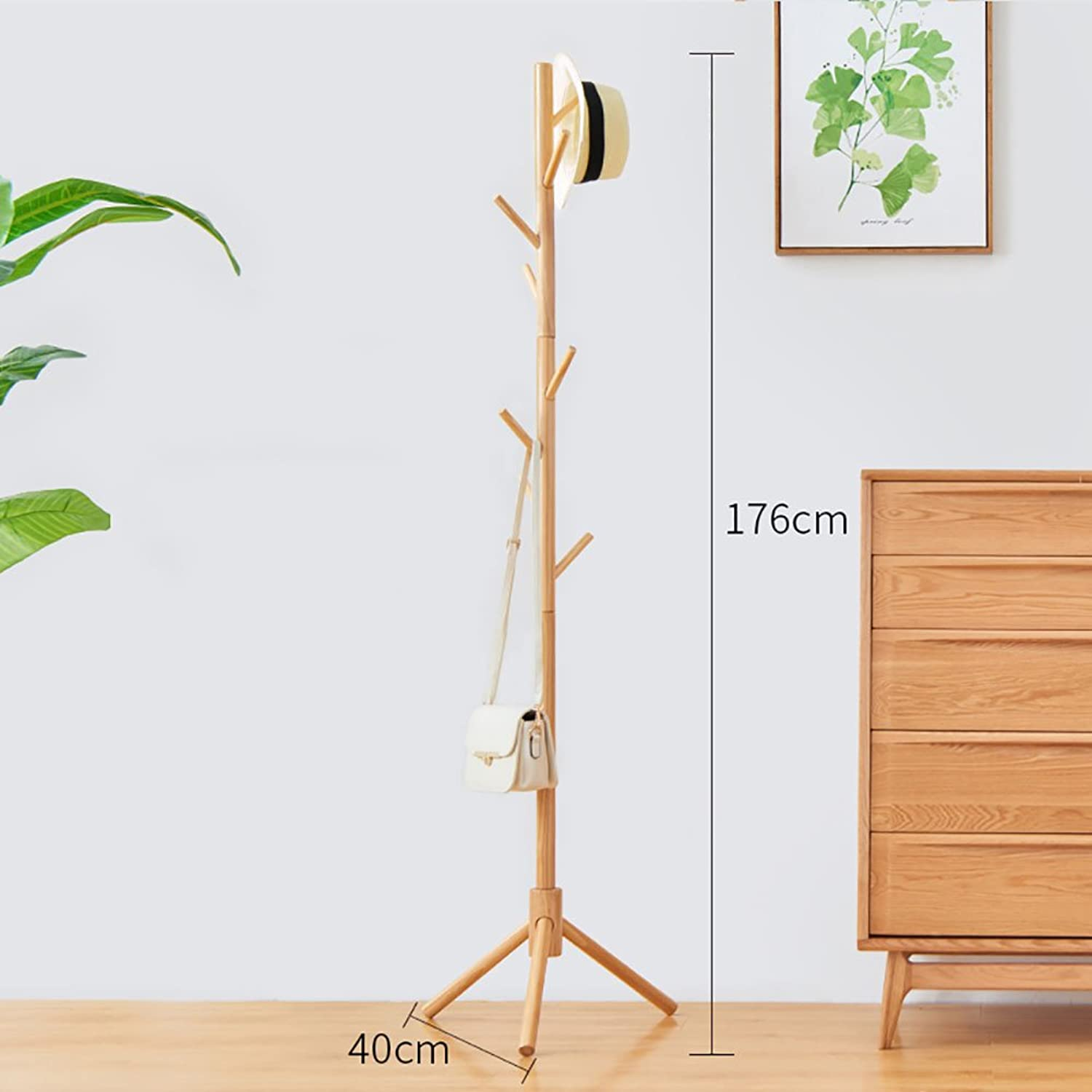 LFF- Bedroom Simple Clothes Shelf Home Simple Modern greenical Living Room Solid Wood Natural color Honey color Brown White Multi-colord (color   Natural color)