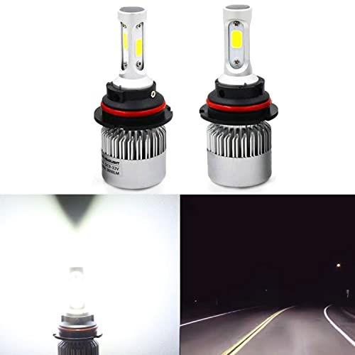 Alla Lighting Extremely Super Bright High Power COB Chipset HB5 9007 9007LL LED Headlight Bulbs w