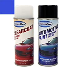 ExpressPaint Aerosol - Automotive Touch-up Paint for Ford F-150 - Blue Flame Pearl SZ - Color + Clearcoat Package