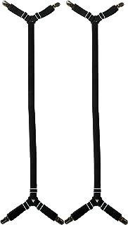 Glield Extend 70cm-230cm Adjustable 2-Piece Under Sofa, Mattress, Bed Sheet Fitted Fastener, Long Strap Clip Bands, Black ...