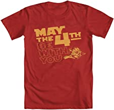 GEEK TEEZ Star Wars May The 4th Be with You Yoda Men's T-Shirt