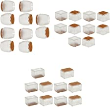 10 Piezas Silla Cuello Caps Silicona Tabla Cubiertas Ronda 25-29mm+10 Piezas Silla Percha Caps Silicona Tabla Cubre Rectán...