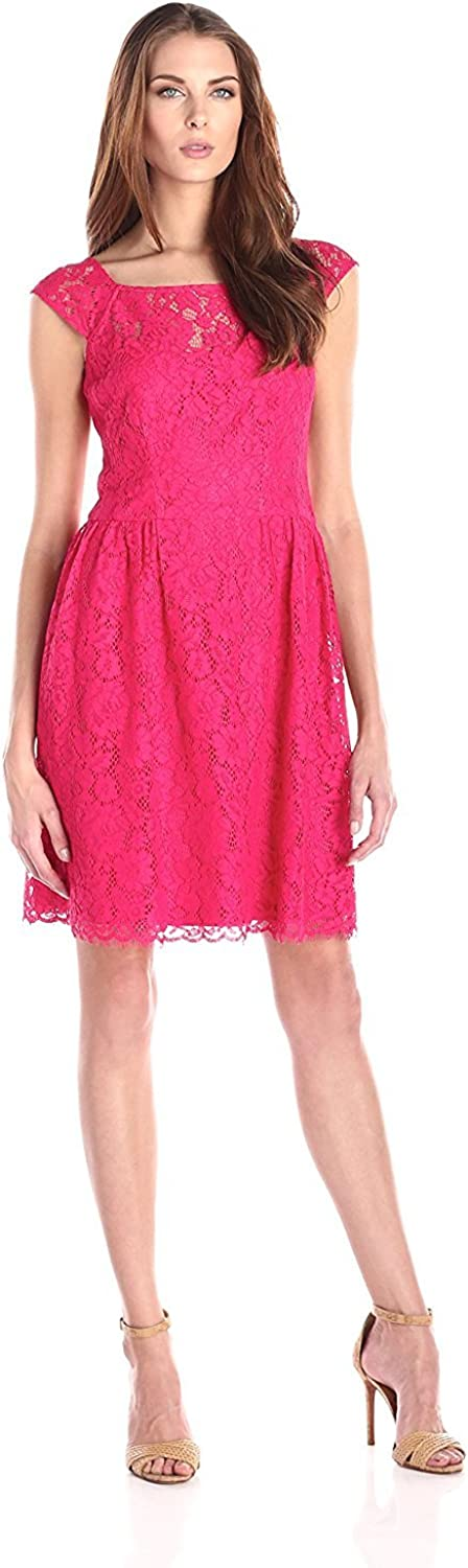 Jessica Simpson Women's Lace Dress with Cap-Sleeves
