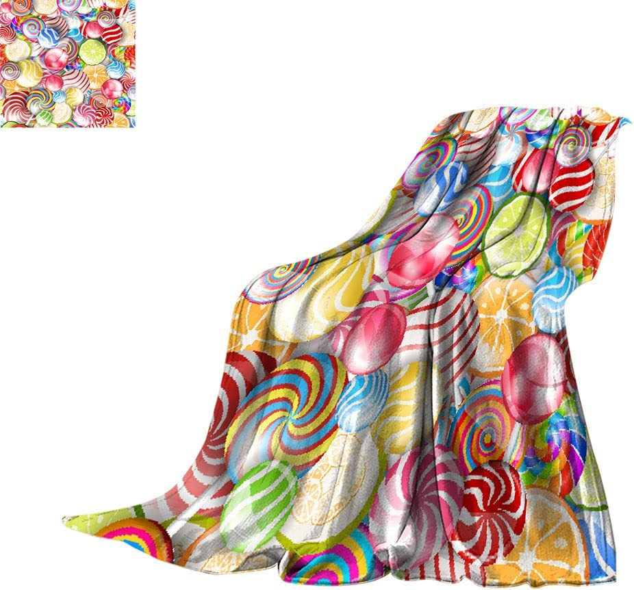 Sweet Max 87% OFF Decor All Season Blankets Sw Department store Candy Lollipops and Colorful
