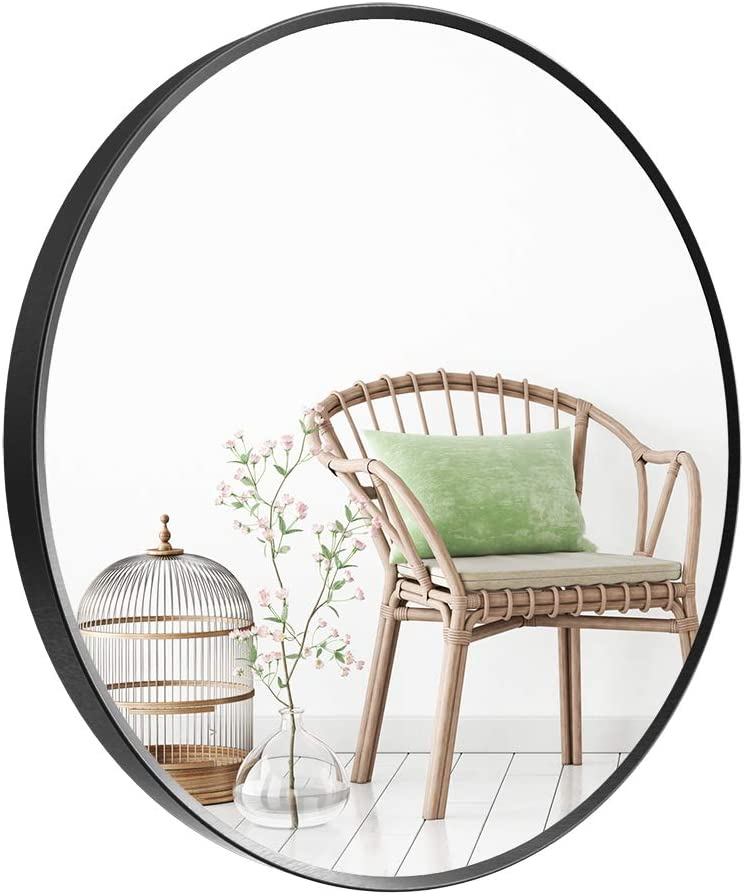 Deby Wall-Mounted Price reduction Mirror Round with Metal Easy-to-use Brushed Frame
