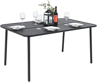 Best brown rectangle patio table Reviews