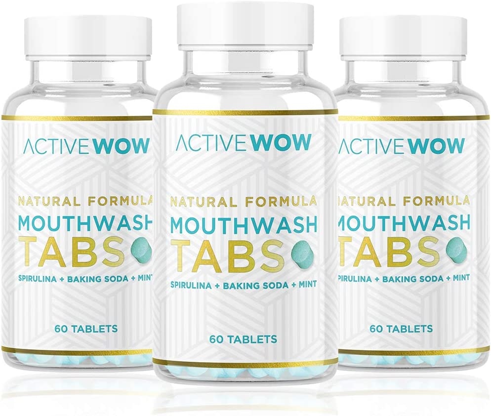 Mouthwash Elegant Tabs with Baking Soda Mint Chew Translated Natural Spirulina -