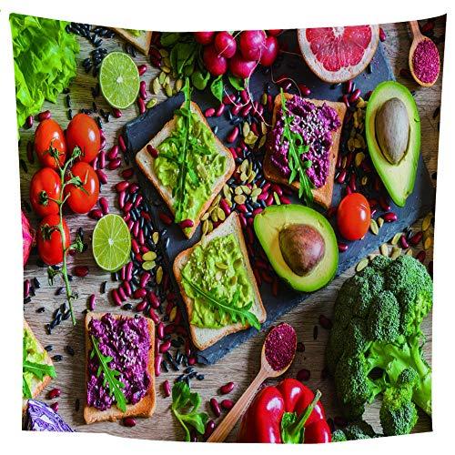 MRQXDP Avocado sandwich, tapijt decor slaapkamer woonkamer strand handdoek sjaal