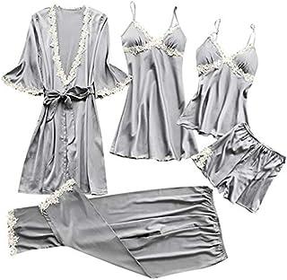 Col en V Manches Longues KOMOREBI Combinaison Pyjama Pyjama pour Femme