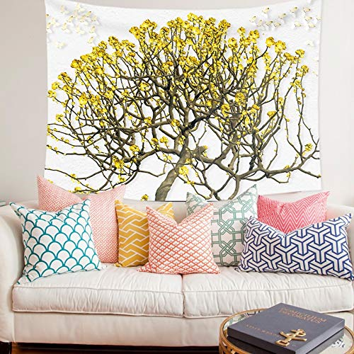 WERT Paisaje Natural Tapiz Colgante de Pared Impresión Exquisito Arte Manta Pintura de Fondo para Sala de Estar Dormitorio Decoración para el hogar A15 200x180cm