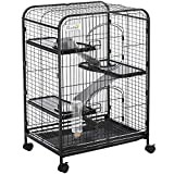 Cage pour Petits Animaux Roulante 3 Rampes 3 Plates-Formes Plat...
