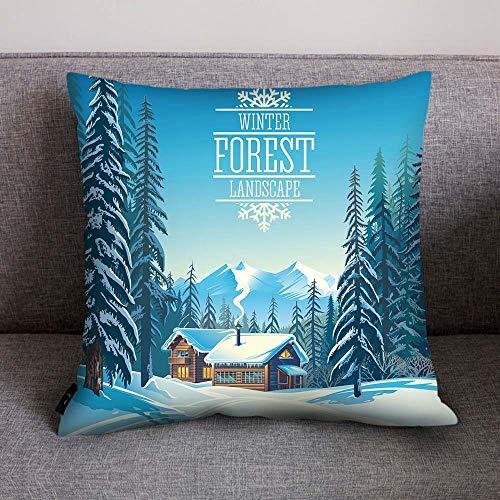 Print Pillow Case Polyester Sofa Car Cushion Cover Home Decor, Polyester Pillowcase 45 * 45cm, I