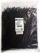 HS UV Protected (1000 Pack) Zip Ties 12 Inch Self Locking Plastic Ties 12 Inch Black Nylon Cable Ties 50 LBS,Outdoor Indoor Purpose