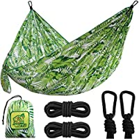 Miztli Portable & Lightweight Travel Parachute Hammock for Outdoor, Indoor, Backpacking, Hiking & Survival