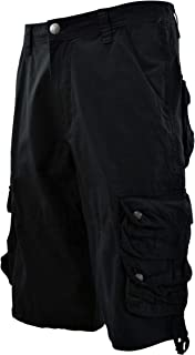 Mens Cargo Shorts with Belt (Many Pockets)