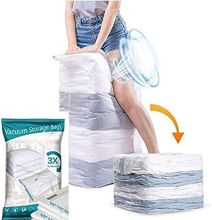 PRISAI Premium heavy Duty CUBE super jumbo Vacuum Storage Bags - 3 times more storage then regular vacuum storage bags(equ...