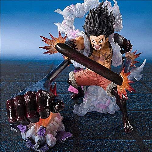 SHUMEISHOUT The New Pirate Sailing Super Fierce Battle Fourth Gear Luffy Snake Man Rey Cobra Figura Anime Decoración Estatua Muñeca Modelo Colección Juguete Altura 16cm