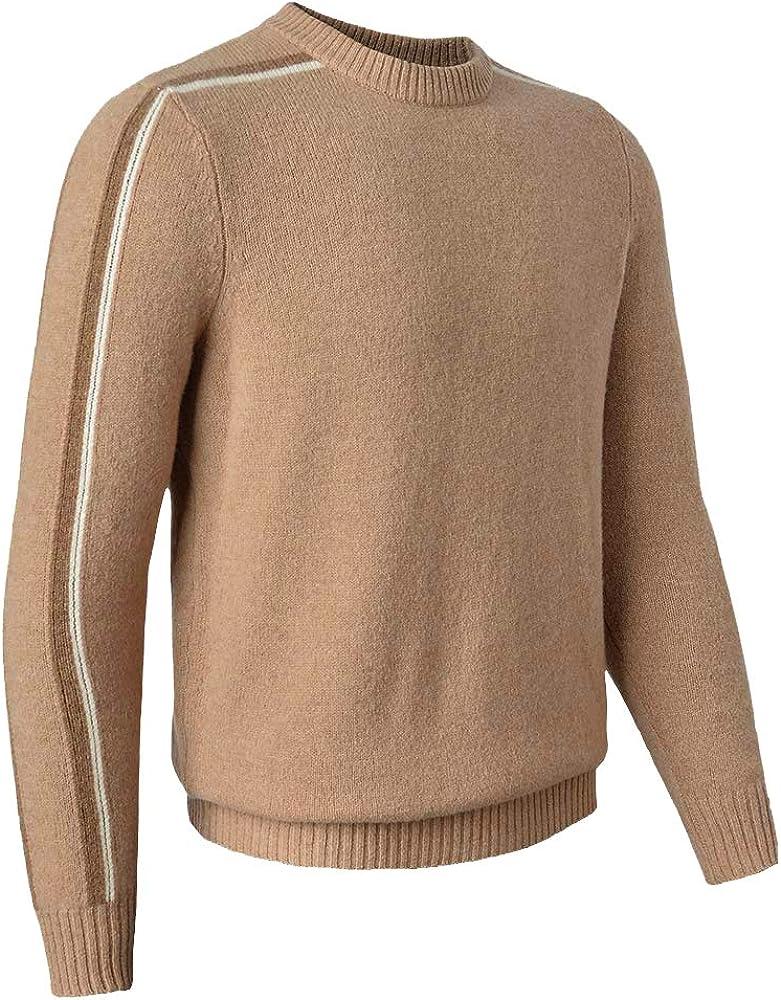 织礼 Fresno Mall Zhili Men Mock Neck Merino Wool Sweater 100% Shipping included