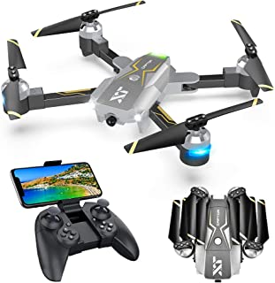 Drones with Camera for Adults – 120° Wide-Angle 720P HD Camera, Beginner Friendly, RTF One Key Take Off/Landing, Optical Flow Positioning, Trajectory Flight, APP Control, Altitude Hold, Headless Mode