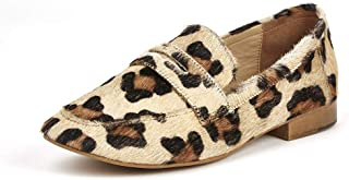 Saint G Womens Leopard Leather Flat Ballerinas