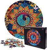 FGen Puzzle Redondo 1000 Piezas, Puzzle Redondo para Adultos, Rompecabezas Redondo Creativo, Rompecabezas Redondo Intelectual Desafío para Niños Adultos (Fuegos Artificiales)