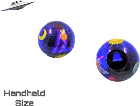 Retro Galaxy Theme Emoji Magic Ball   Mini-Size   Only One in the Market   Fortune Teller   Question 8 Ball Game that Answers Questions & Gives Advice   Gift Ideas   Party Supplies   Toys for all Ages