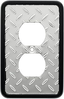 Diamond Plate Single Duplex Wall Plate, Packaging may Vary