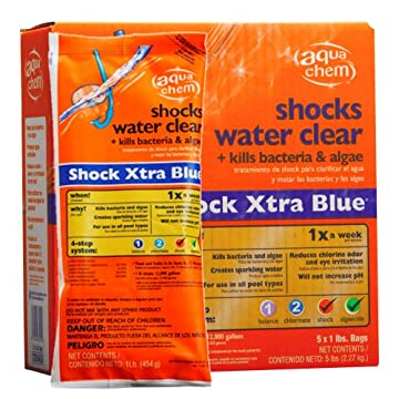 Aqua Chem 5-Pack Shock Xtra Blue for Swimming Pools