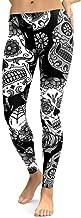 HGWXX7 Women High Waist Gym Yoga Skull Print Running Fitness Leggings Pants Tights Workout Clothes