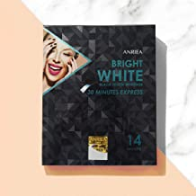 ANRIEA Black Tooth Whitener, Whitening Strips, Mild Charcoal Teeth Whitening for Sensitive Teeth, 30 Mins Express, 14-Day Treatments