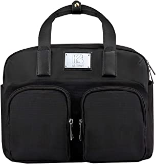 IB AI.BO&S Original Lunch Box Insulated Lunch Bag Cooler Bag Soft Leather Lunch Tote Lunch Bag for Men Women Kids (Black)