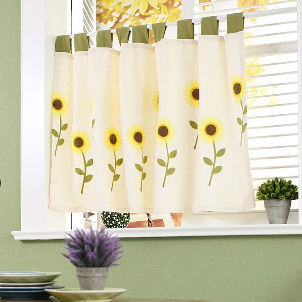 F-XW Café Overseas parallel import regular item Tier Curtains At the price Nursery Curtain Kitchen Small Cotto