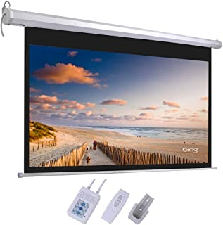 Acazon Projector Screen with Remote Control, 92 inch 16:9 HD Display Motorized Wall Mounted Ceiling Best Home Theater Movie Party Class,US Stock