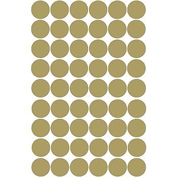 TOKERD 240 Pi/èces Stickers Pois Dor/é Feuilles 3cm Polka Dot Autocollants D/écor Dor/é Points Sticker Mural Cercle pour D/écorer Pi/èce