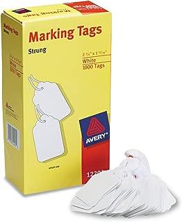 Avery 12201 Medium-Weight White Marking Tags, 2 3/4 x 1 11/16 (Box of 1000)