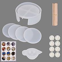 Queta Set van 4 siliconen onderzetters, set van 4 stuks, om zelf te maken, siliconen vormen, siliconen vorm, onderzetters,...