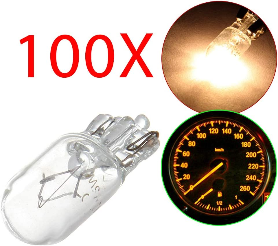 cciyu 100Pack W5W T10 194 Halogen Instrument Limited Attention brand price Bulbs Panel Light G