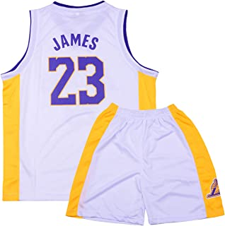 8387a7402e781 Sokaly Garçon Fille Basket Maillots Lakers James 23 Simmons 25 Basketball  Jersey Top et