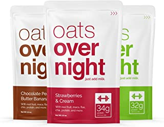 Oats Overnight - Premium High-Protein, Low-Sugar, Gluten-Free (3oz per pack) (12 Pack Variety)