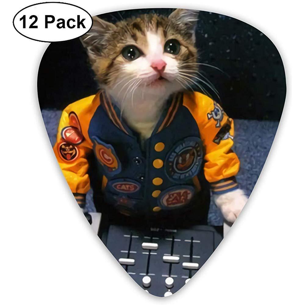 Dj Kitty Kat 12 Pack Púas de guitarra, guitarras eléctricas y acústicas: Amazon.es: Instrumentos musicales