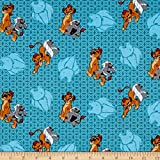 E. E. Schenck Disney Lion Guard Friend Power Turquoise Quilt Fabric By The Yard, Turquoise