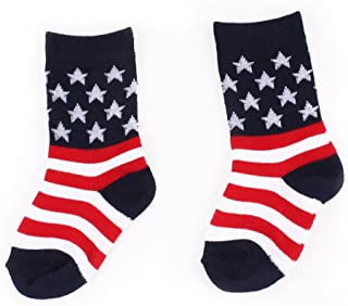 cotton american flag shorts